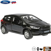 Diecast Car Scale 136 Ford Focus Hatchback Black Russian Model Toy Cars