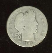 1897-s Barber Half Dollar | About Good | 933900 Mintage | San Francisco |cp2540