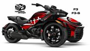 Can Am Spyder F3 F3s Decal Graphic Wrap Kit - Patriot Canada