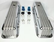 Polished Aluminum Finned Tall Valve Covers For Sbc Small Block Chevy 350