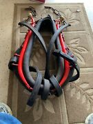 Late 1800's/early 1900's Leather Horse/mule Collar W/metal Hames Farming 015
