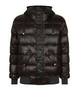 Andpound1300 Dolce And Gabbana Black Goose Down And Feather Padded Jacket - Made In Italy