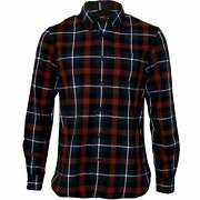 French Connection Cotton Broad-check Menand039s Shirt Navy/red