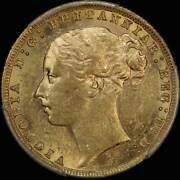1879 Sydney Young Head St George Reverse Sovereign Pcgs Au58