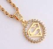 14k Gold Stainless Steel Superman Emblem Triangle Cz Pendant Rope Chain Necklace
