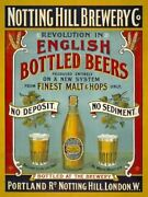 Notting Hill Brewery Co. English Bottled Beers. -pa Metal/steel Wall Sign
