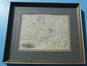 Environs Of Plymouth And Devonport Hand Coloured Map Thomas Moule Circa 1837 Fandg