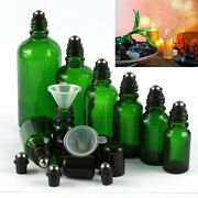 New 5-100ml Roll On Glass Bottle Essential Perfume Oil Metal Roller Ball Empty