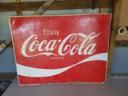 Large, Old Metal Coke Signs. +5 Feet. Good Condition