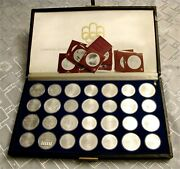1976 Montreal Olympic Games Sterling Silver Coin Set Bu Box