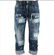 £840 Dsquared2 'big Brother Jean' Distressed And Stitch Detail Jeans-made In Italy