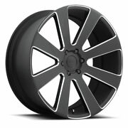 26x10 Dub S187 8-ball 6x139.7 Et30 Black And Milled Rims Set Of 4