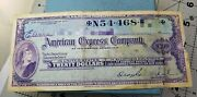 American Express Travelers Cheques Live Check Vintage Original 20