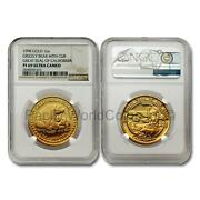 Us 1998 Great Seal Of California Grizzly Bear With Cub 1oz Gold Ngc Pf69 Sku7642