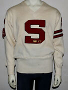 Lowe And Campbell Vintage Letterman 1950's Sweater With Chenille Patches 44