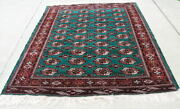 Brilliant Green Antique Turkoman Maine Oriental Rug Carpet 69x102 40 Guls