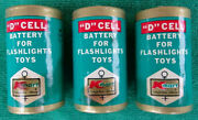 3 K-mart D Cell No 901 Batteries Flashlights Toys Rare Vintage Collection