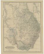 Antique Map Of South Australia By Johnston 1882