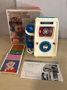 Old Vtg Rare Sears And Roebuck Answer-me Talking Picture Phone Toy With Box