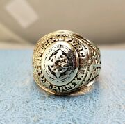 Green Beret U.s. Special Forces 10k Diamond Solid Gold Ring Sz12 Has History