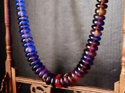 Sumatra Cherry Amber 51 Aaa Grade Fat Disk Beads Necklace 100 Natural Fossil