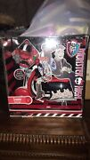 Monster High Ghoulia Yelps Doll Scooter Motor Cycle With Helmets + Kick Stand