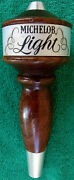 Michelob Light On Tap Draft Beer Pull Handle Knob Used Wooden Vintage Rare
