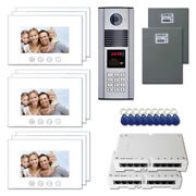 Home Entry Door Security Video Intercom System Kit With 9 7 Color Monitors