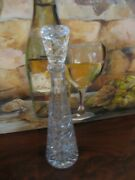 Vintage Tall Beautiful Heavy Crystal/glass Decanter 16 Tall Wine Bottle