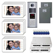Office Door Access Security Video Intercom System Kit With 9 7 Color Monitors