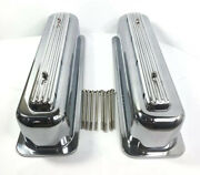 Rocket Finned Aluminum Center Bolt Valve Covers Tall For Sbc Chevy Show Quality
