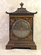 Antique French Chinoserie Clock Time Only Running Callow Of Mt Street Mayfair