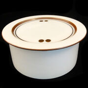 Domino Brown By Royal Copenhagen Covered Bowl 5.25 Round New Never Used Trolle