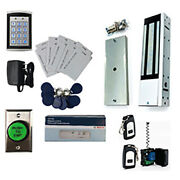 Deluxe Wireless Entry Magnetic Lock W/ Receiver Kit W/ Proximity Card And Key Fobs