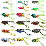Croch Hollow Body Frog Lure Weedless Topwater Kit 18 Pcs