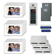 Multi Tenant Door Entry Video Intercom System Kit With 13 7 Color Monitors