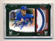 2016 Topps Museum Kris Bryant Game Used Jumbo Ernie Banks Patch Auto 1/1