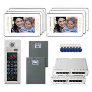 Office Security Door Camera Video Intercom System Kit With 7 7 Color Monitors