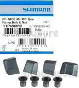 Shimano Ultegra 6800 Chainring Fixing Bolts And Nut Set Of 4 Nib