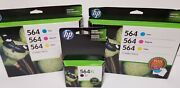 Lot 3 Hp 564 Ink Cartridges Combo Pack Cyan Magenta Yellow And Xl Black Exp 11/15
