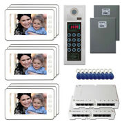 Apartment Unit Security Video Intercom System Kit With 9 7 Color Monitors New