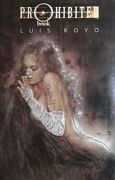Luis Royo Autograph Signed Original Sketch With Prohibited Vol 1 Hc New Rare