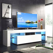 High Gloss Led Light Shelves Tv Stand Unit Console Cabinet With Drawer Or Door