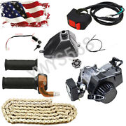 47cc 49cc 2 Stroke Engine Fuel Tank Chain Ignition Cable Grips Mini Bike Scooter