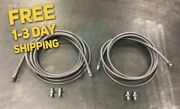Stainless Steel Rear Brake Line Replacement Kit For 94-97 Honda Accord W/disc