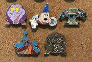 New 2013 Wdw Disney Park Icons Hidden Mickey Pins 5 Authentic Pins