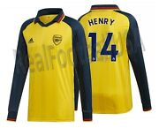 Adidas Thierry Henry Arsenal Icons Long Sleeve T-shirt Retro Jersey 2019/20.
