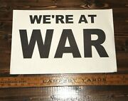 We're At War Invasion Of Iraq Newspaper Vender Box Poster March 20, 2003 Orig