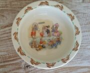 Royal Doulton- Bunnykins Cereal Dish- At The Tickets Booth-excellent Cond.