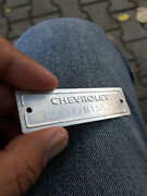 1953-1963 Chevrolet Data Plate Id Tag With 1/8 Holes And 2 Screws Polished
